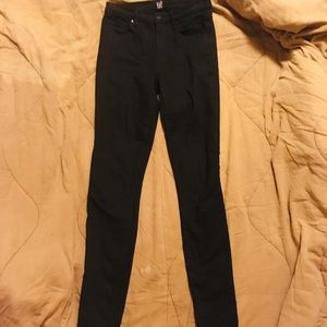 Gap Size 27 Tall High Waisted Black Skinny Jeans